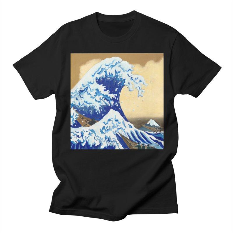 Hokusai - The Great Wave Women's Regular Unisex T-Shirt by mybadart's Artist Shop