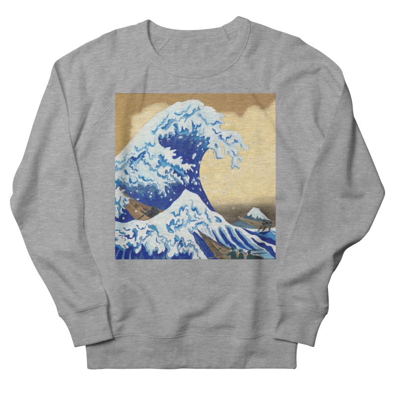 Hokusai - The Great Wave Men's French Terry Sweatshirt by mybadart's Artist Shop
