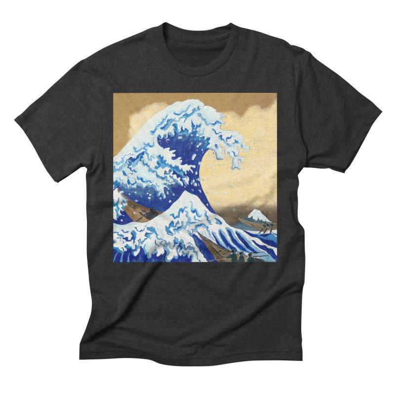 Hokusai - The Great Wave Men's Triblend T-Shirt by mybadart's Artist Shop