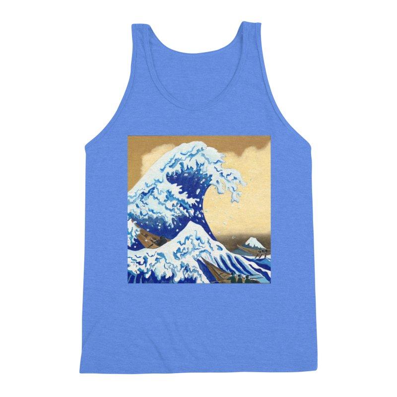 Hokusai - The Great Wave Men's Triblend Tank by mybadart's Artist Shop