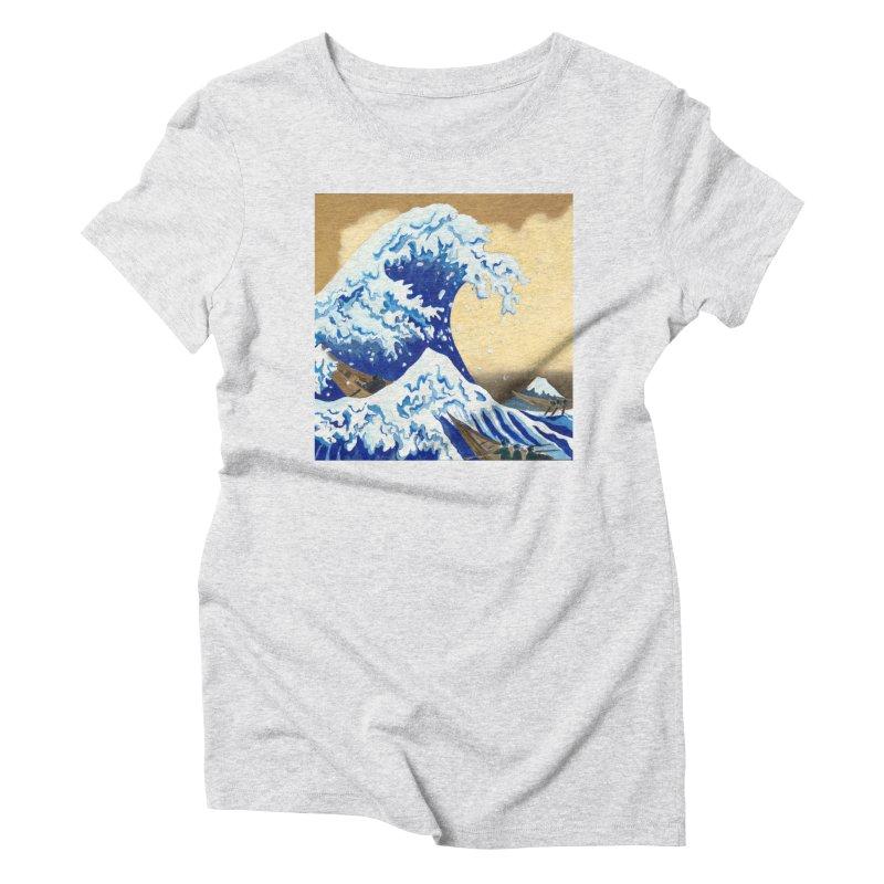Hokusai - The Great Wave Women's T-Shirt by mybadart's Artist Shop