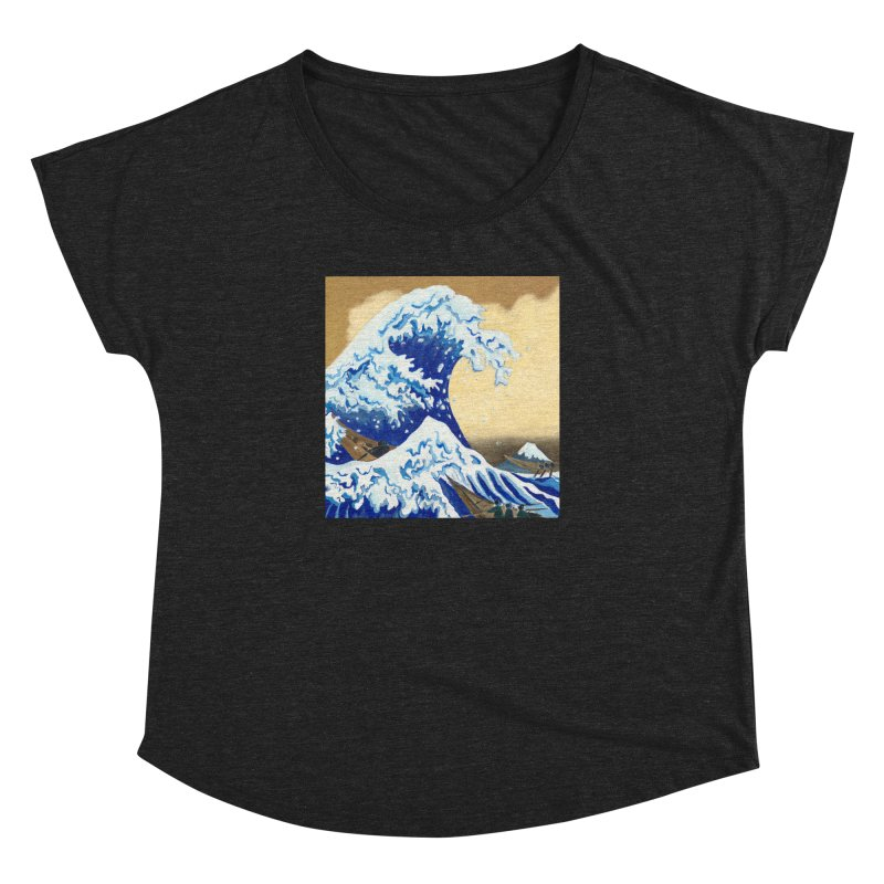 Hokusai - The Great Wave Women's Dolman Scoop Neck by mybadart's Artist Shop