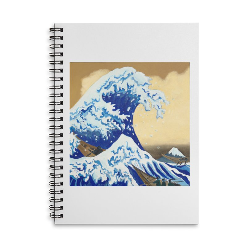 Hokusai - The Great Wave Accessories Lined Spiral Notebook by mybadart's Artist Shop