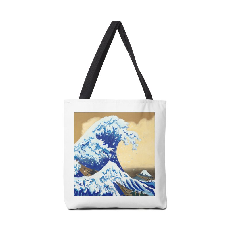 Hokusai - The Great Wave Accessories Tote Bag Bag by mybadart's Artist Shop