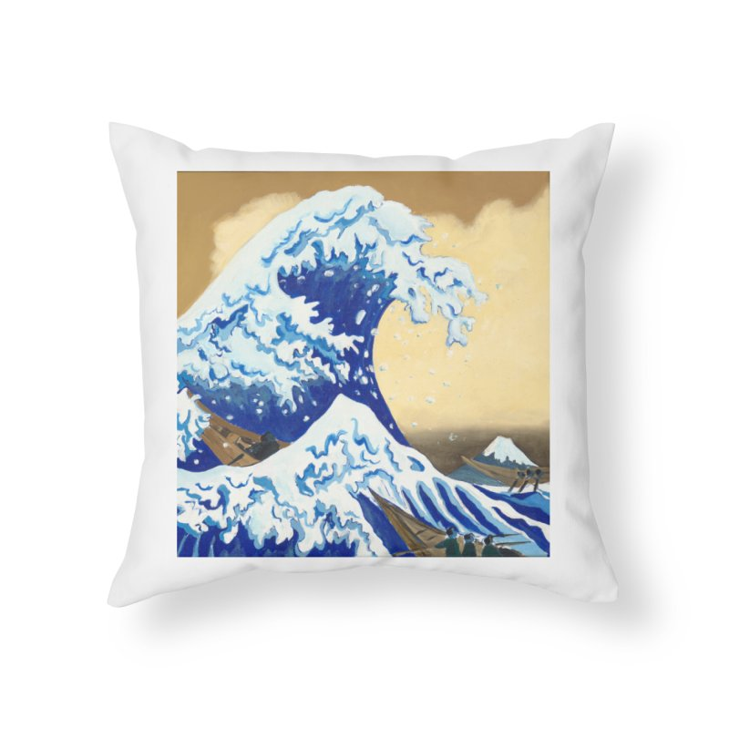 Hokusai - The Great Wave Home Throw Pillow by mybadart's Artist Shop