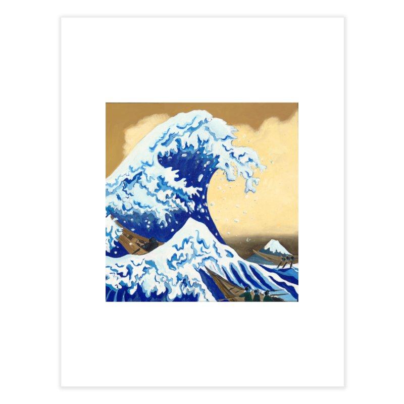 Hokusai - The Great Wave Home Fine Art Print by mybadart's Artist Shop