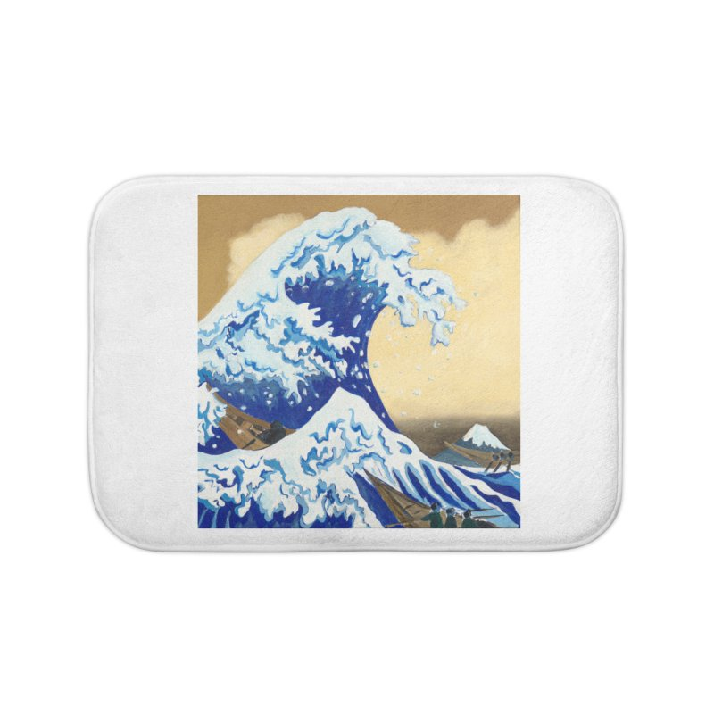 Hokusai - The Great Wave Home Bath Mat by mybadart's Artist Shop