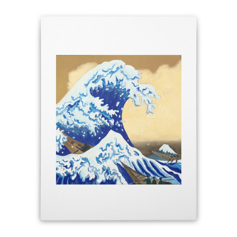 Hokusai - The Great Wave Home Stretched Canvas by mybadart's Artist Shop