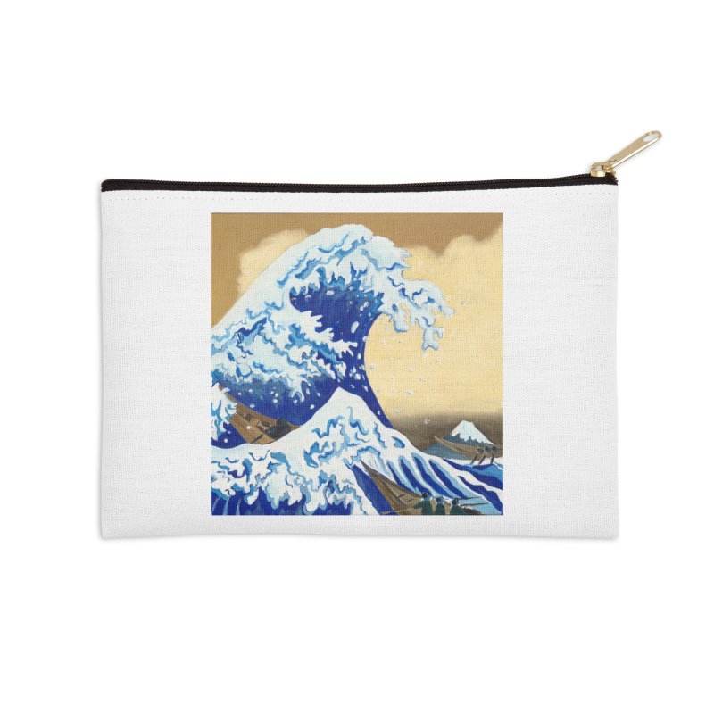 Hokusai - The Great Wave Accessories Zip Pouch by mybadart's Artist Shop