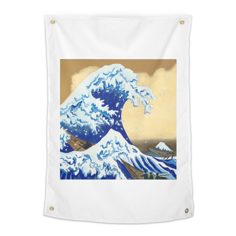 Hokusai - The Great Wave Home Tapestry by mybadart's Artist Shop