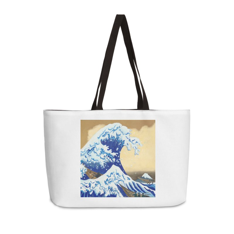 Hokusai - The Great Wave Accessories Weekender Bag Bag by mybadart's Artist Shop