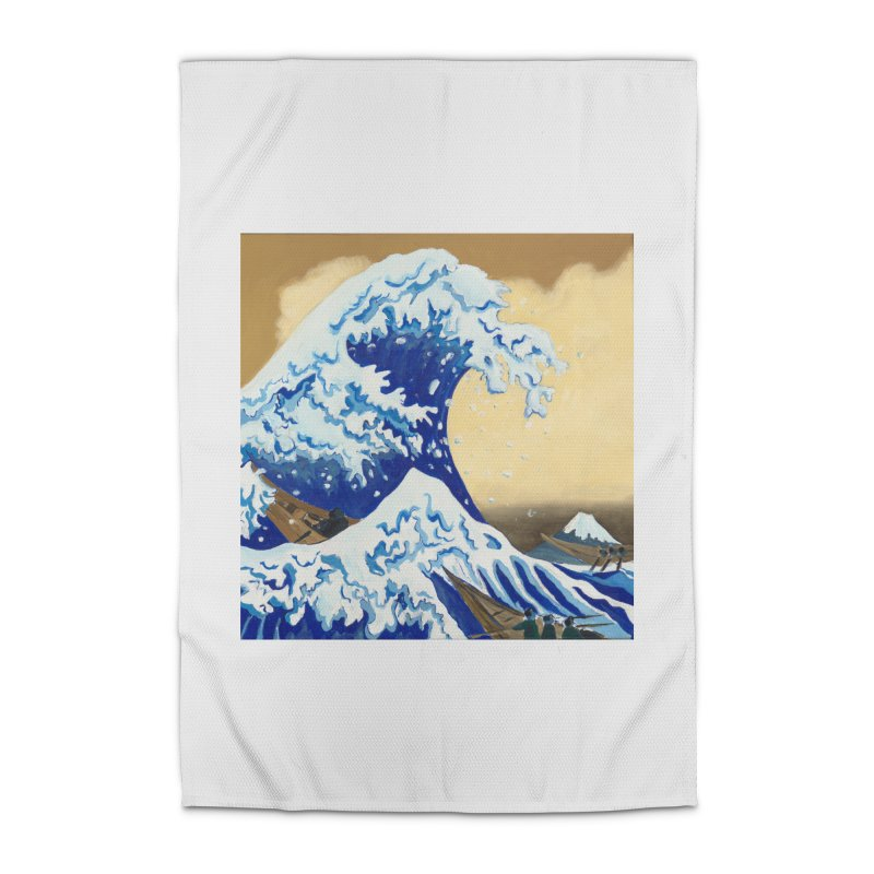 Hokusai - The Great Wave Home Rug by mybadart's Artist Shop