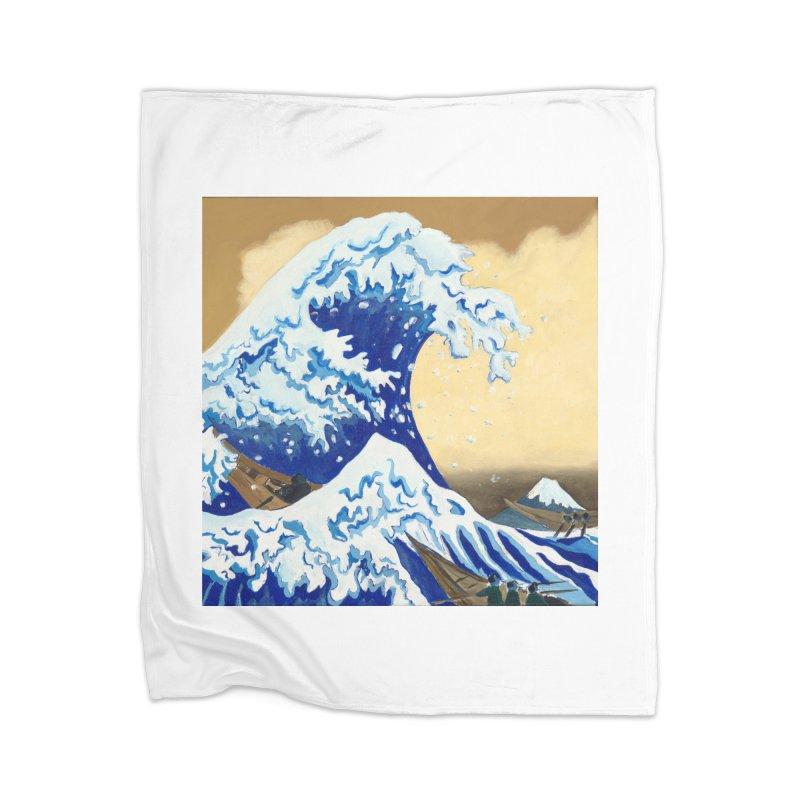 Hokusai - The Great Wave Home Blanket by mybadart's Artist Shop