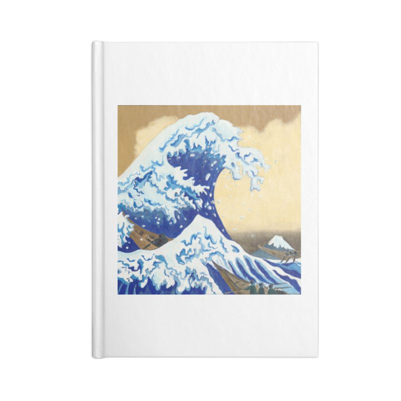 Hokusai - The Great Wave Accessories Blank Journal Notebook by mybadart's Artist Shop