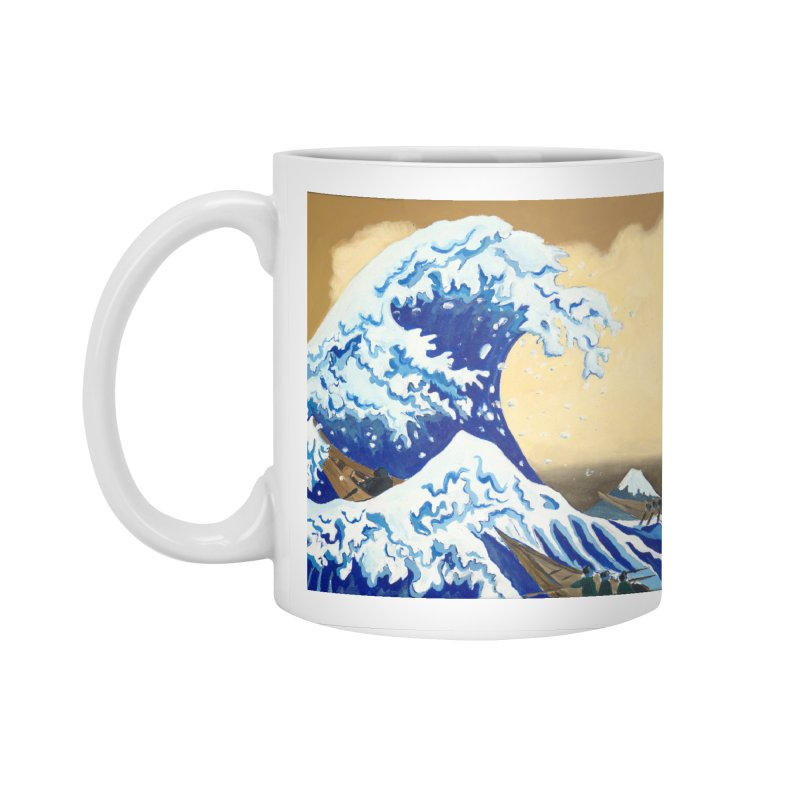 Hokusai - The Great Wave Accessories Standard Mug by mybadart's Artist Shop