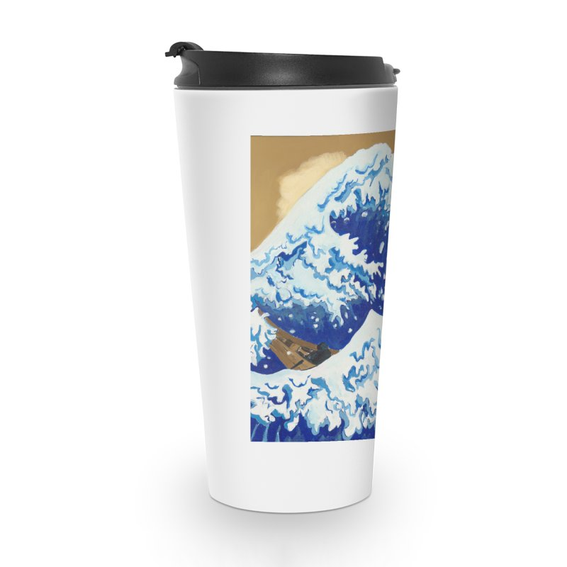Hokusai - The Great Wave Accessories Travel Mug by mybadart's Artist Shop