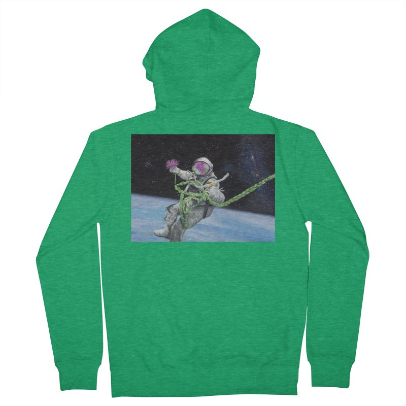 Is anybody out there? Women's Zip-Up Hoody by mybadart's Artist Shop