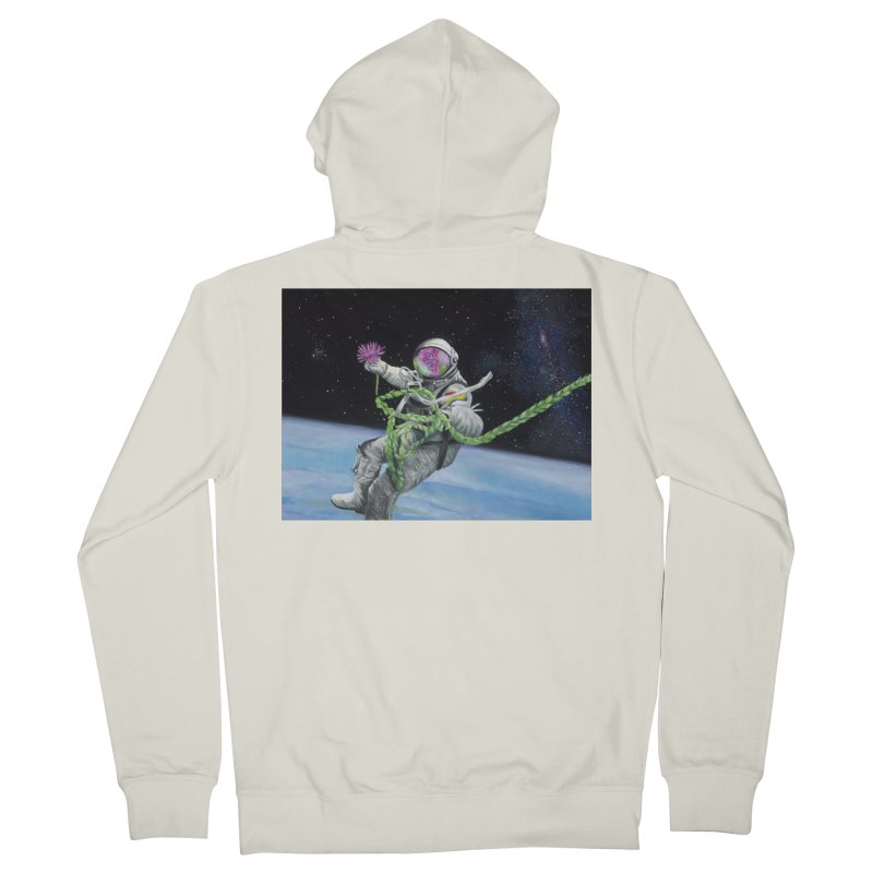 Is anybody out there? Women's French Terry Zip-Up Hoody by mybadart's Artist Shop
