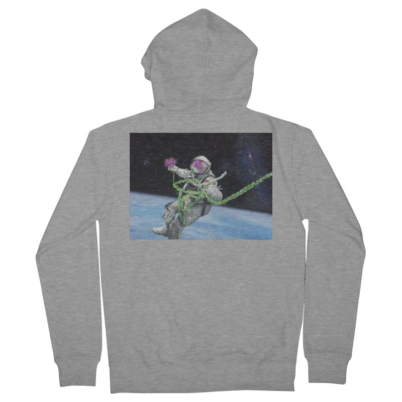 Is anybody out there? Men's French Terry Zip-Up Hoody by mybadart's Artist Shop