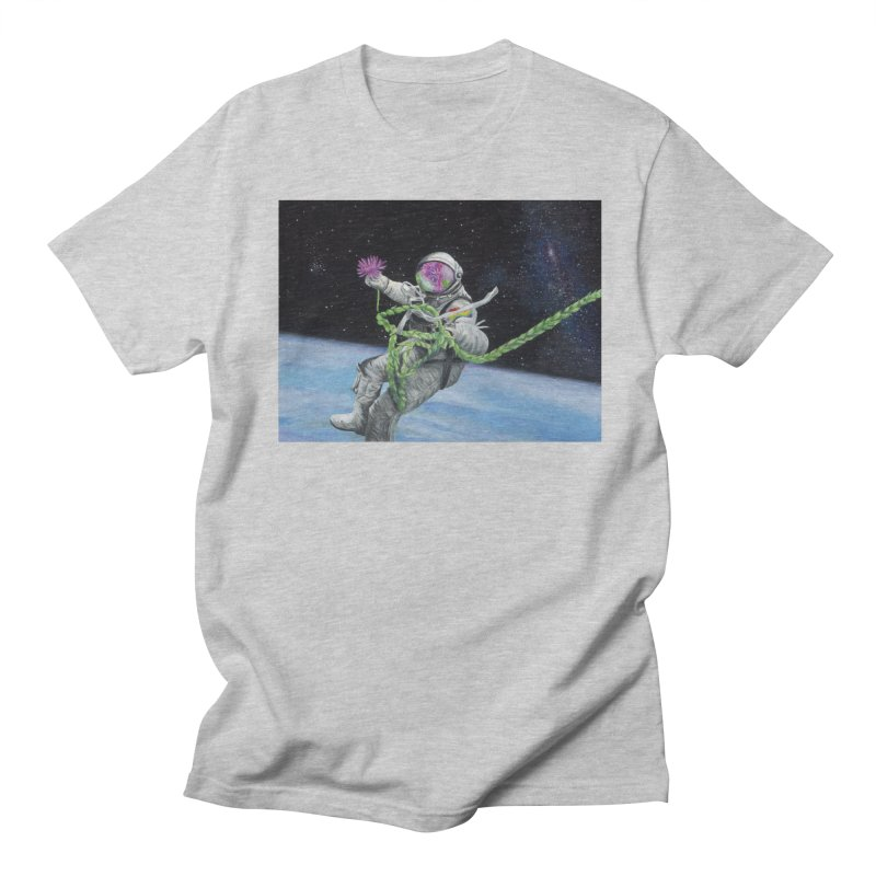 Is anybody out there? Men's Regular T-Shirt by mybadart's Artist Shop