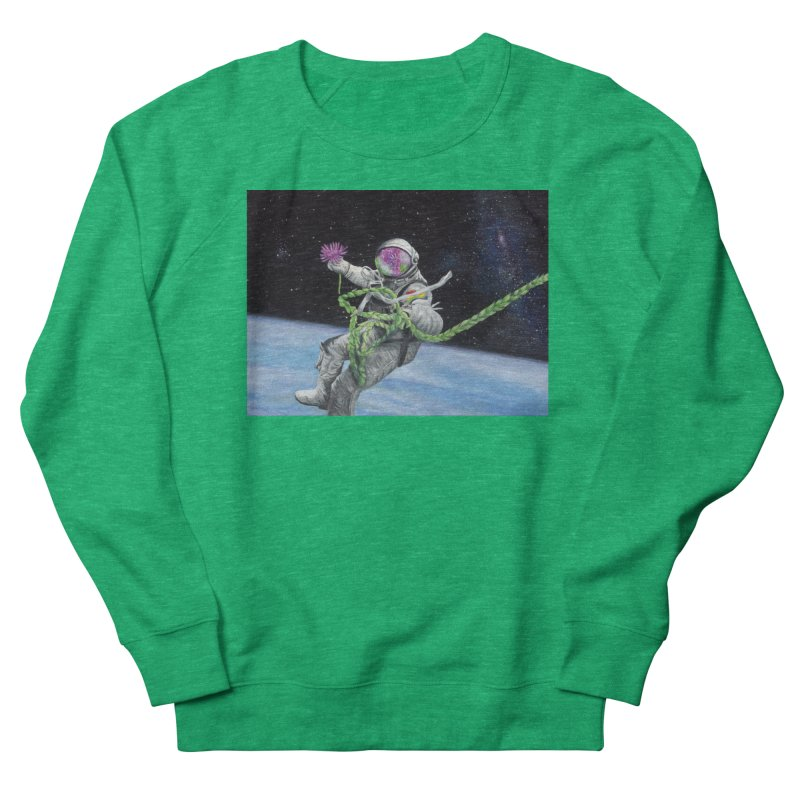 Is anybody out there? Women's French Terry Sweatshirt by mybadart's Artist Shop