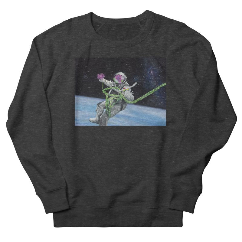 Is anybody out there? Men's French Terry Sweatshirt by mybadart's Artist Shop