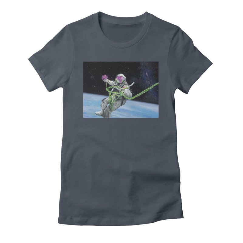 Is anybody out there? Women's T-Shirt by mybadart's Artist Shop