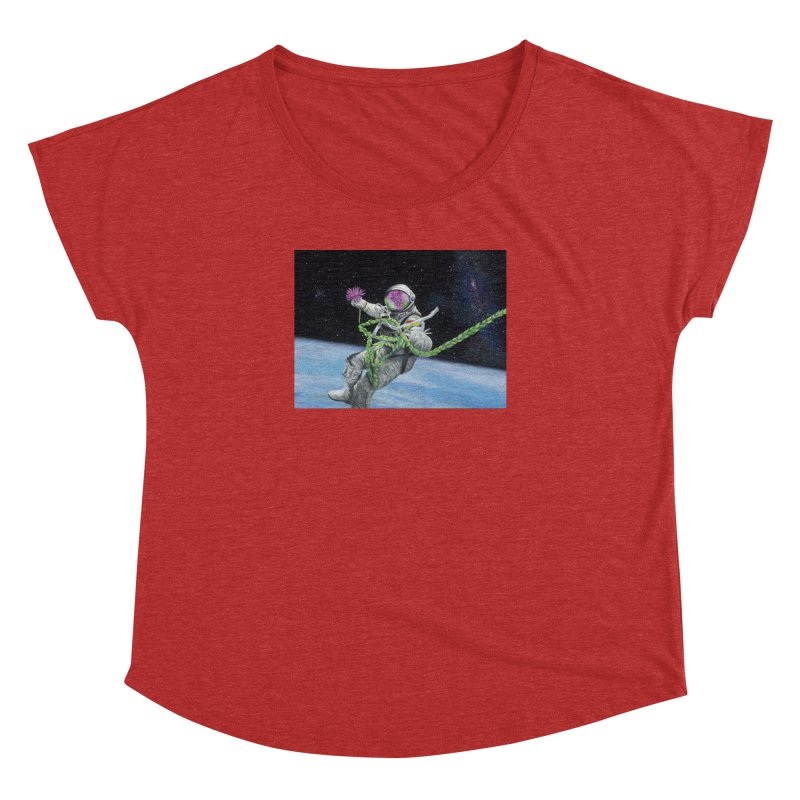 Is anybody out there? Women's Dolman Scoop Neck by mybadart's Artist Shop