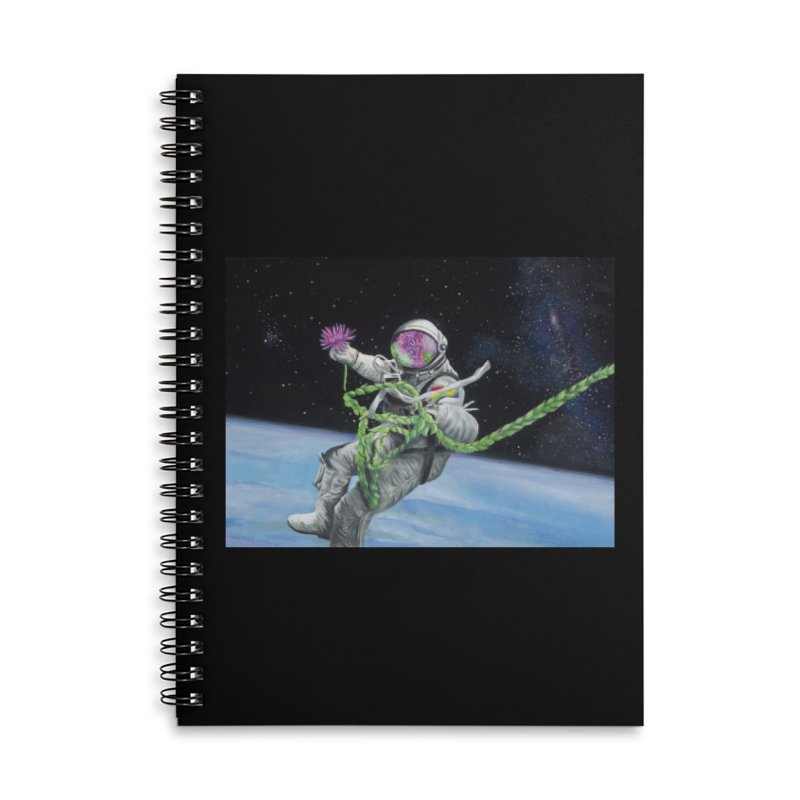 Is anybody out there? Accessories Lined Spiral Notebook by mybadart's Artist Shop