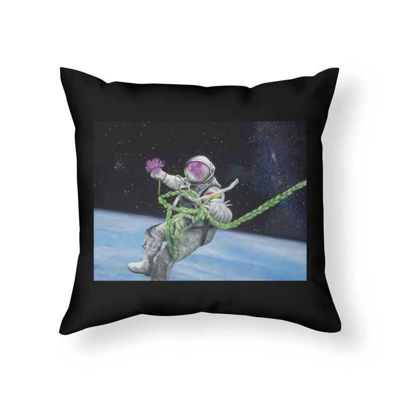 Is anybody out there? Home Throw Pillow by mybadart's Artist Shop