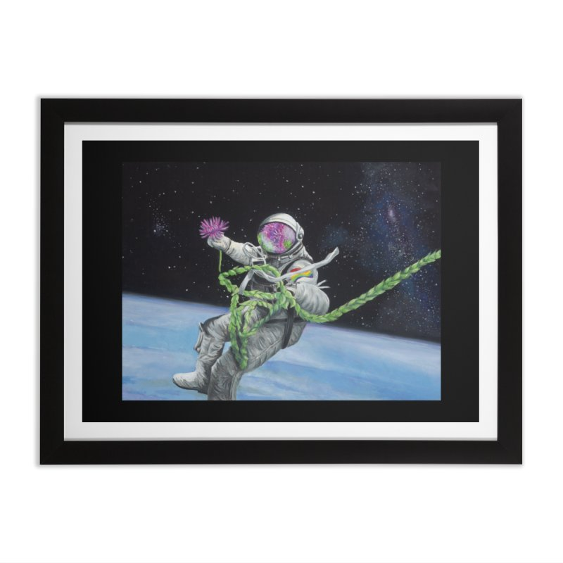 Is anybody out there? Home Framed Fine Art Print by mybadart's Artist Shop