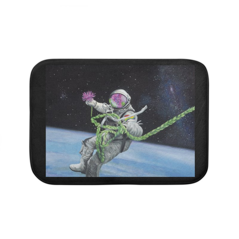 Is anybody out there? Home Bath Mat by mybadart's Artist Shop
