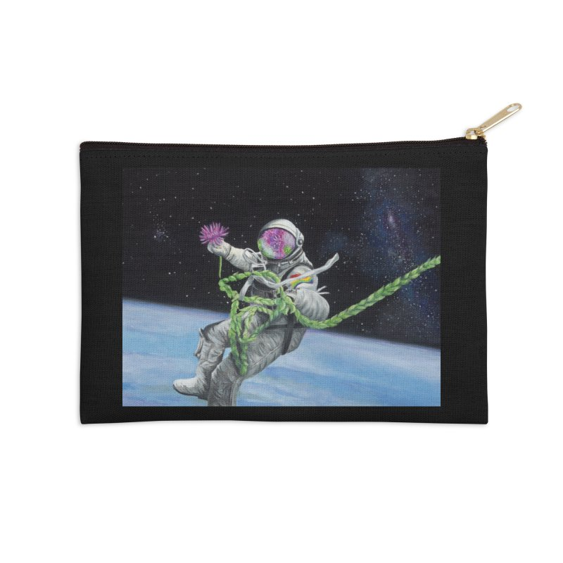 Is anybody out there? Accessories Zip Pouch by mybadart's Artist Shop