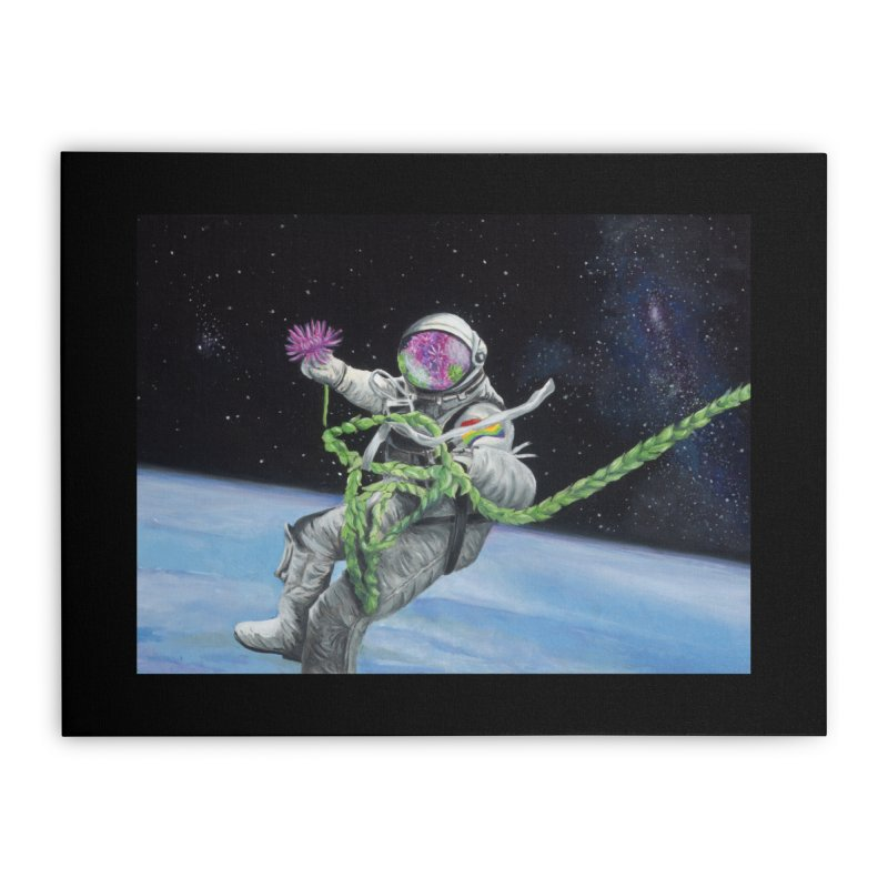 Is anybody out there? Home Stretched Canvas by mybadart's Artist Shop
