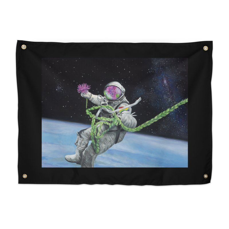 Is anybody out there? Home Tapestry by mybadart's Artist Shop