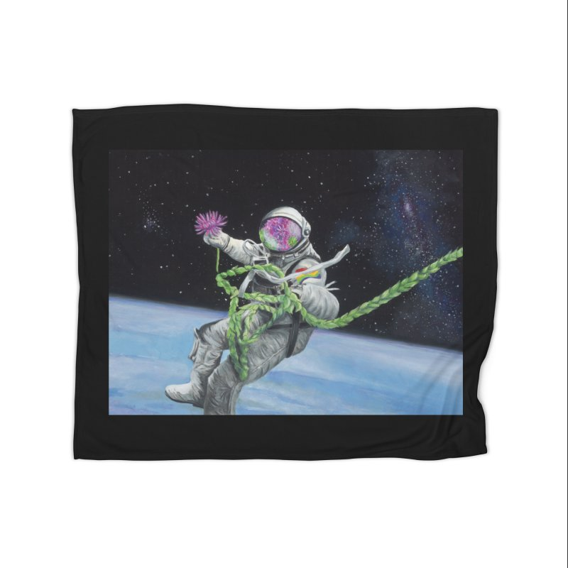Is anybody out there? Home Blanket by mybadart's Artist Shop
