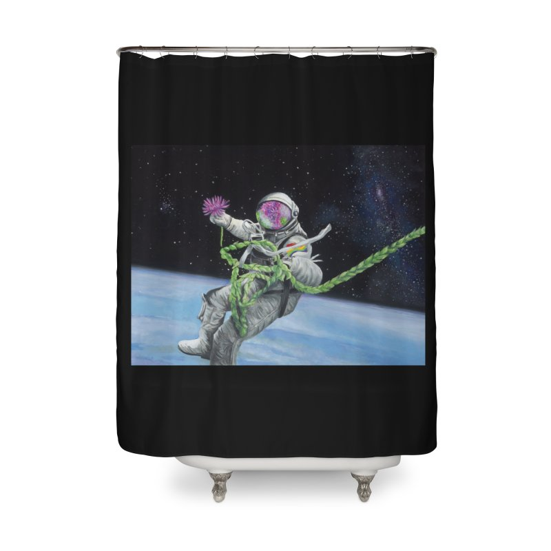 Is anybody out there? Home Shower Curtain by mybadart's Artist Shop