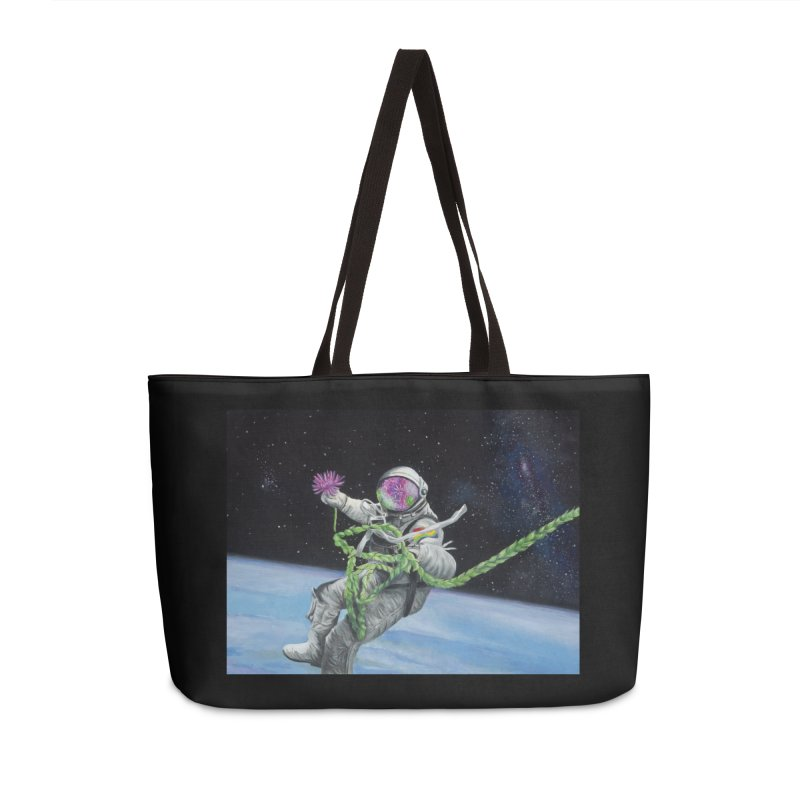 Is anybody out there? Accessories Weekender Bag Bag by mybadart's Artist Shop