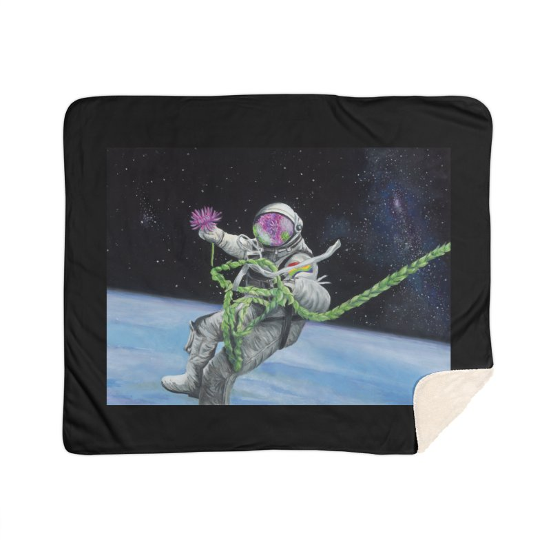 Is anybody out there? Home Sherpa Blanket Blanket by mybadart's Artist Shop