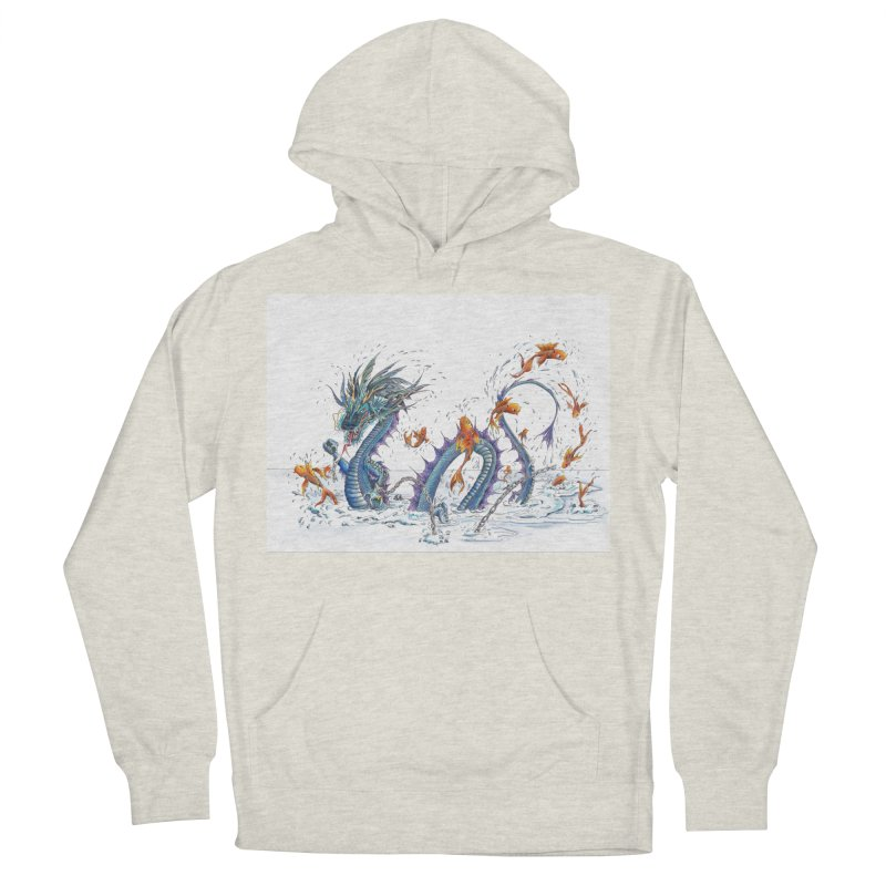 Water Dragon Men's French Terry Pullover Hoody by mybadart's Artist Shop