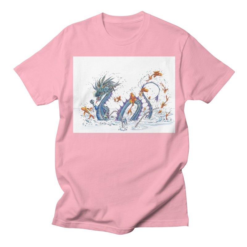 Water Dragon Men's Regular T-Shirt by mybadart's Artist Shop