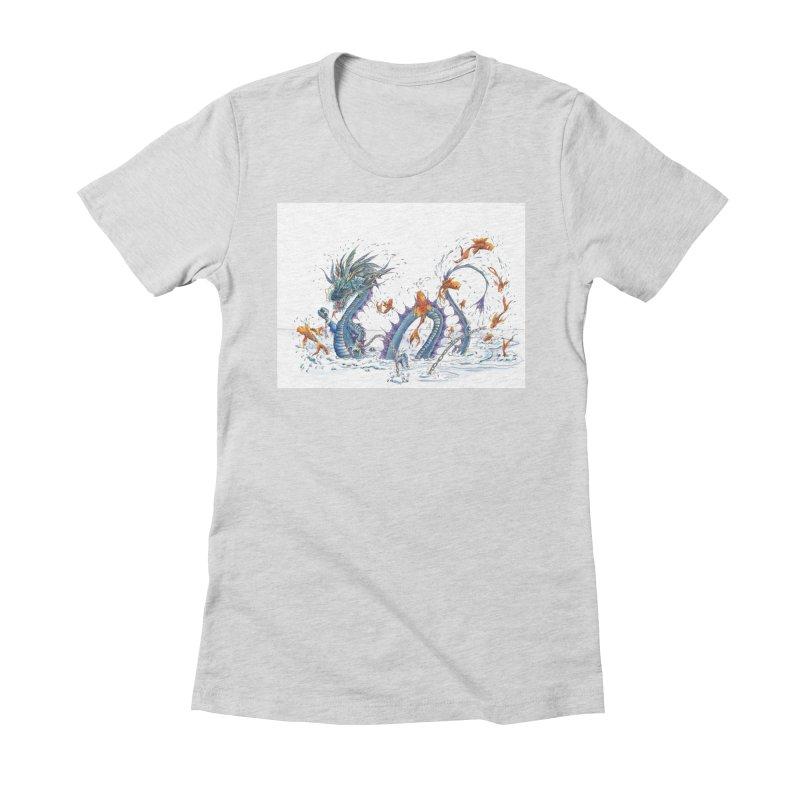 Water Dragon Women's T-Shirt by mybadart's Artist Shop