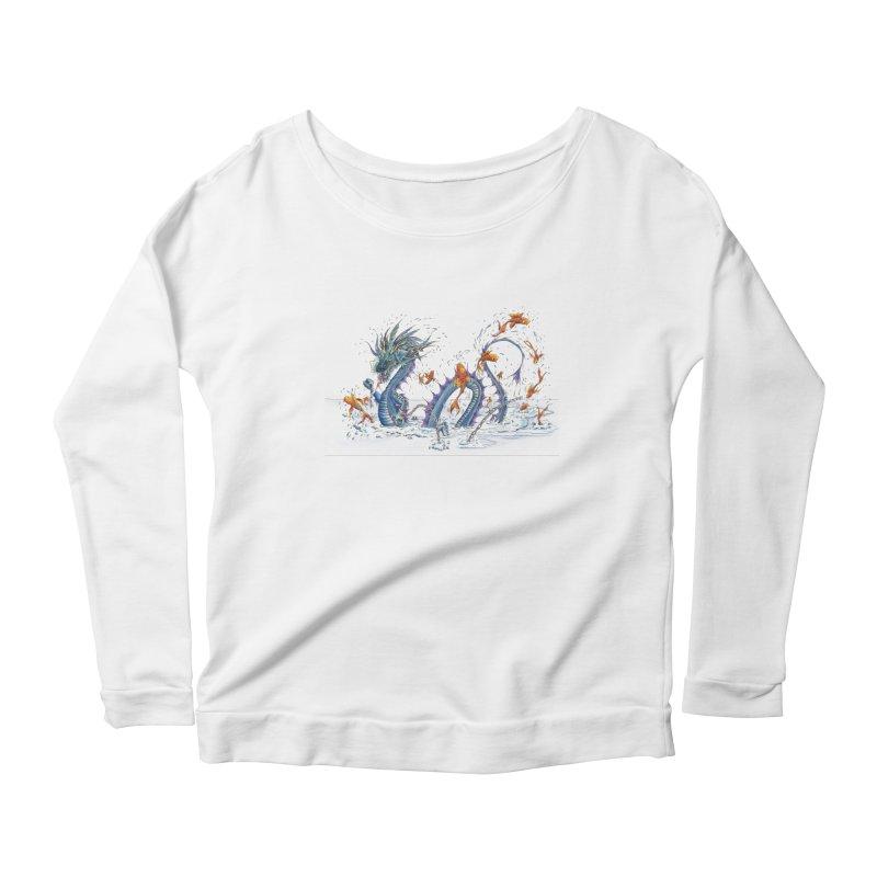 Water Dragon Women's Scoop Neck Longsleeve T-Shirt by mybadart's Artist Shop