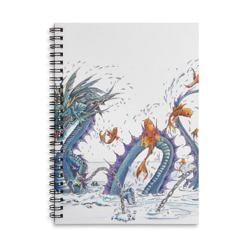 Water Dragon Accessories Lined Spiral Notebook by mybadart's Artist Shop