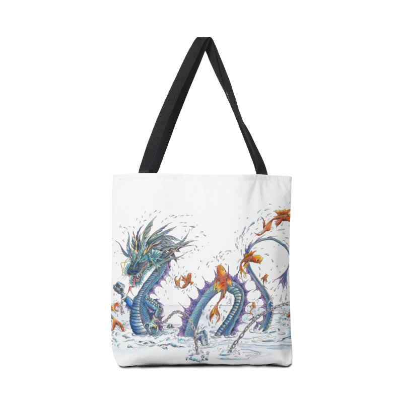 Water Dragon Accessories Tote Bag Bag by mybadart's Artist Shop