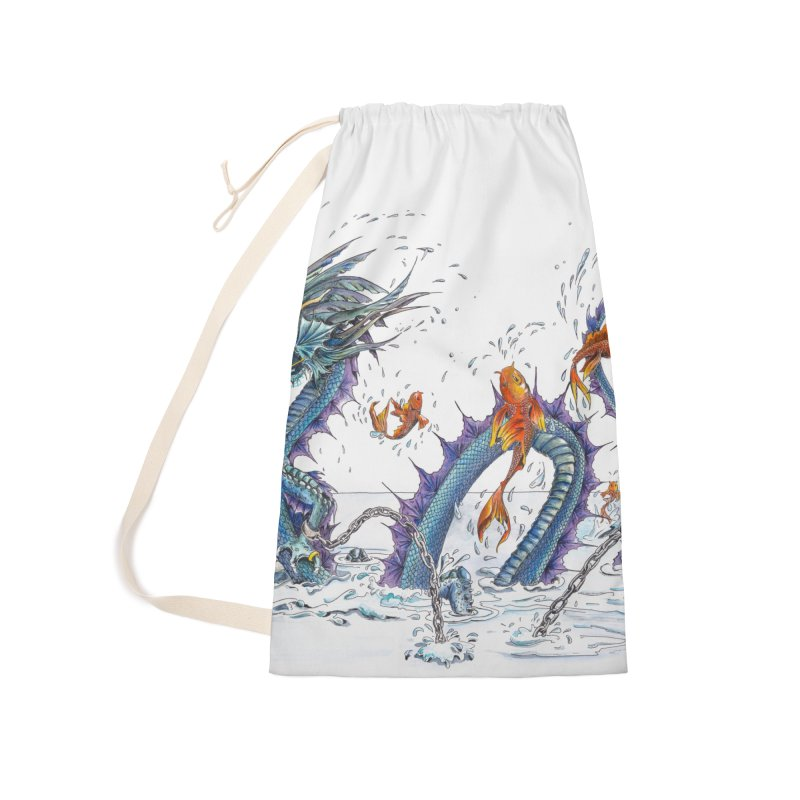 Water Dragon Accessories Laundry Bag Bag by mybadart's Artist Shop