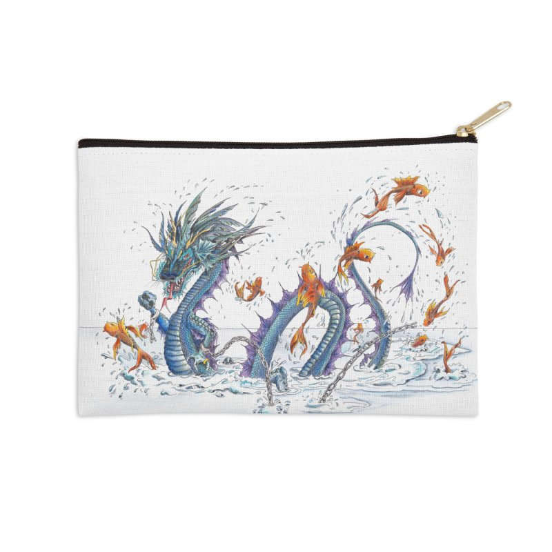 Water Dragon Accessories Zip Pouch by mybadart's Artist Shop