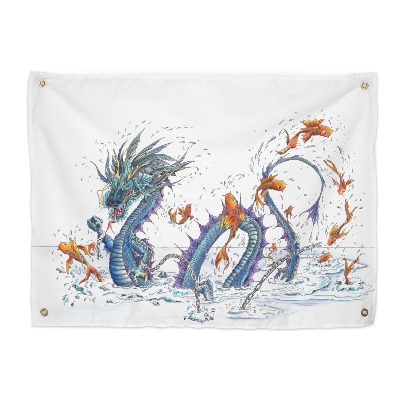 Water Dragon Home Tapestry by mybadart's Artist Shop