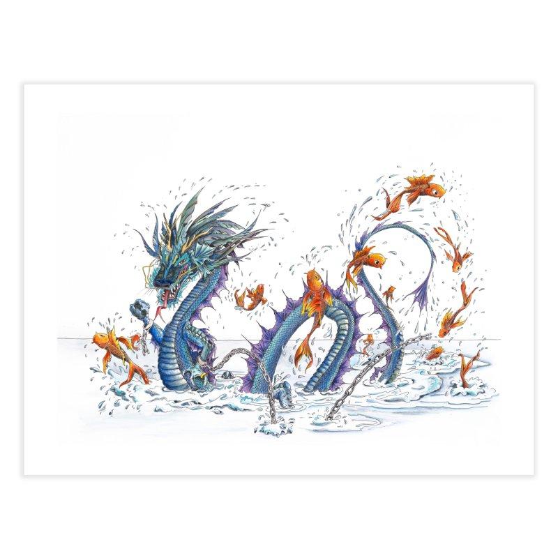 Water Dragon Home Fine Art Print by mybadart's Artist Shop