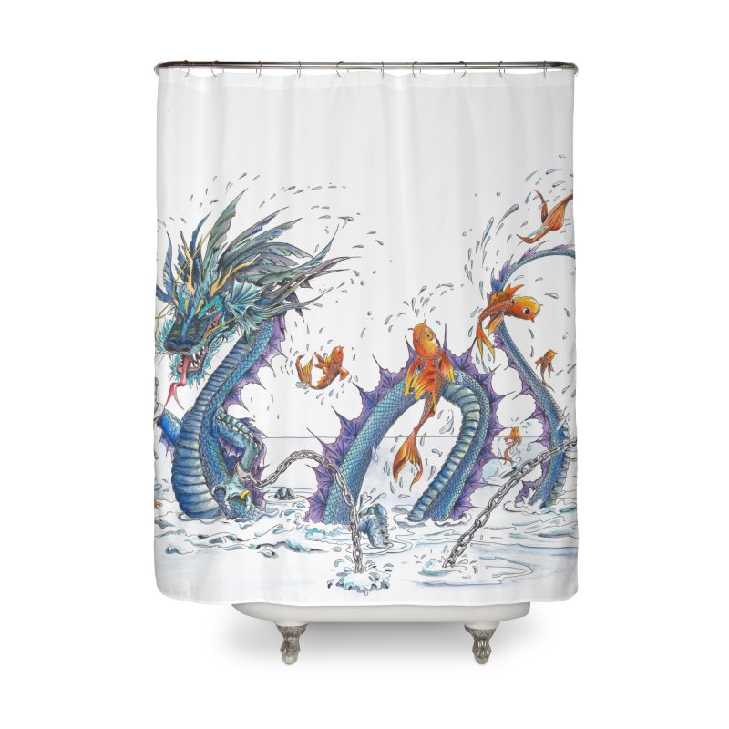 Water Dragon Home Shower Curtain by mybadart's Artist Shop